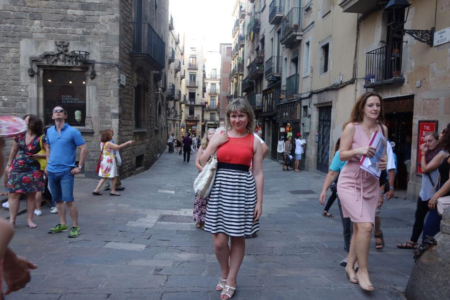 В Готическом квартале Барселоны