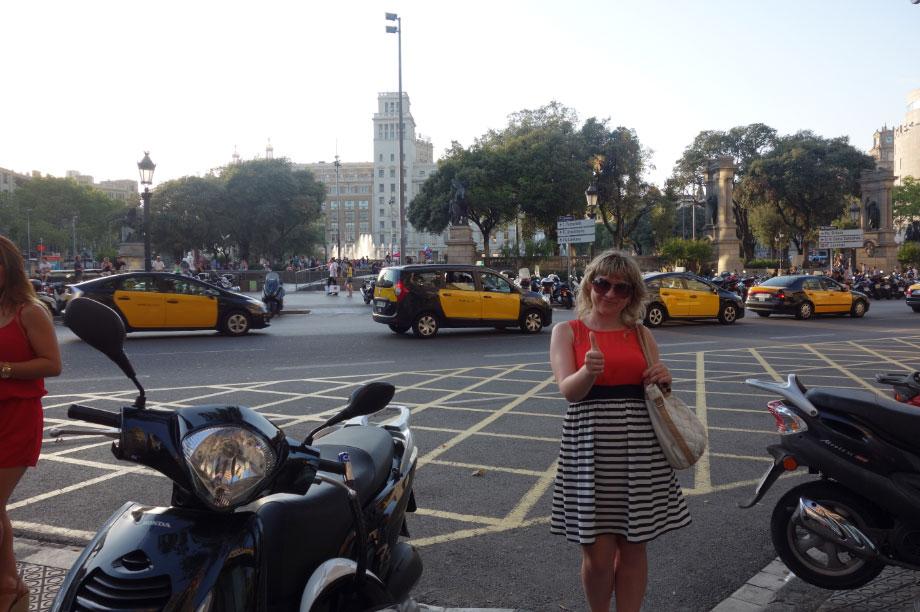 Площадь Каталонии в центре Барселоны
