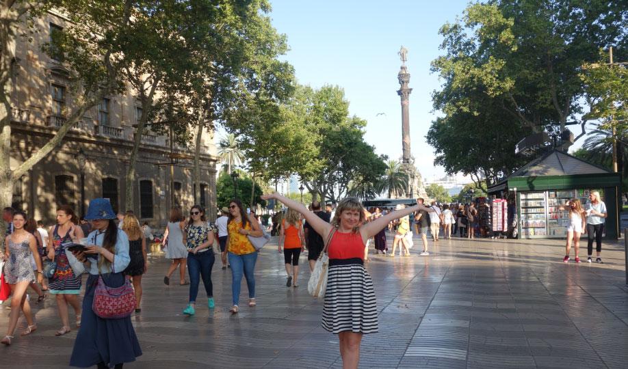 Ла Рамбла возле Площади Колумба