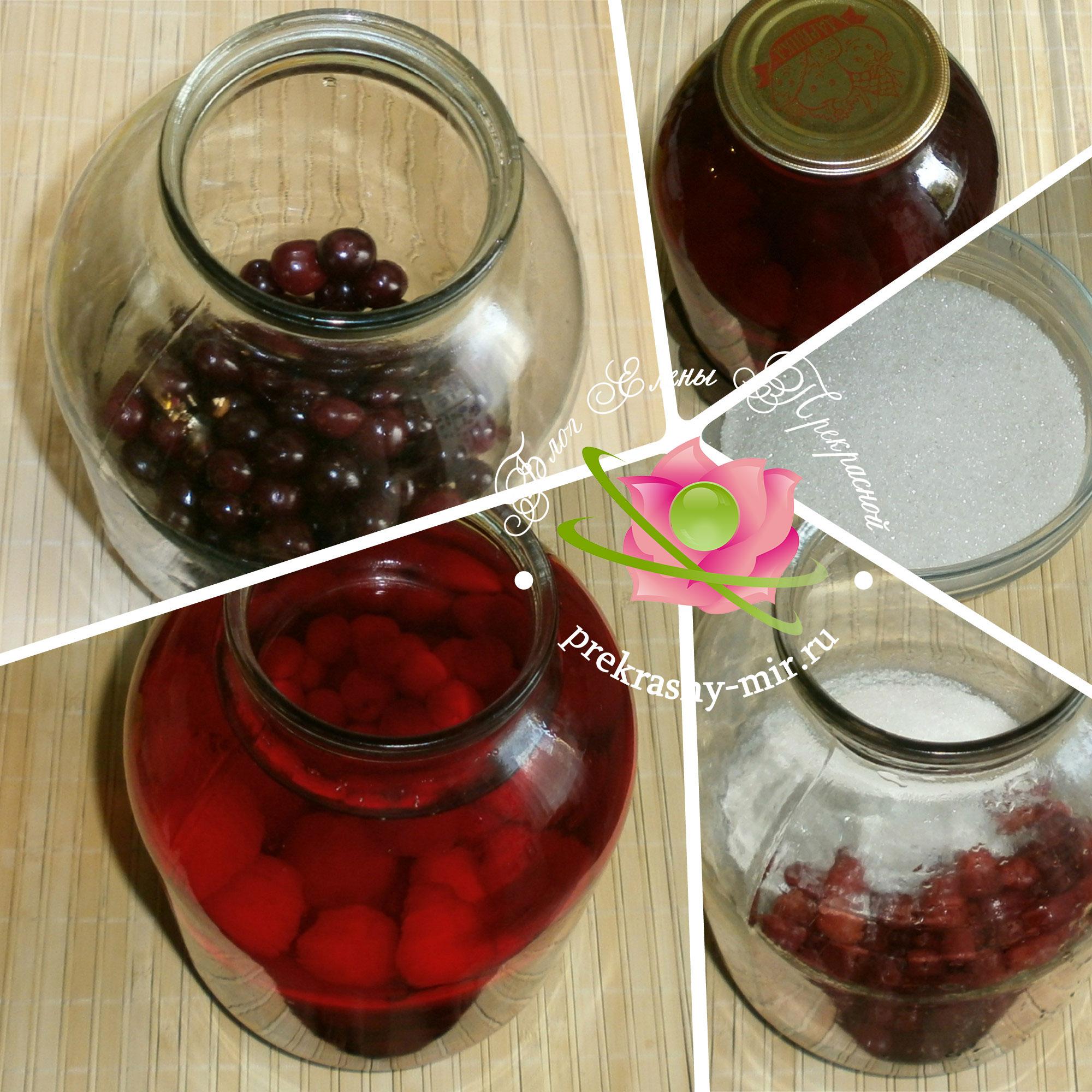вишневый компот пошаговый рецепт с фото
