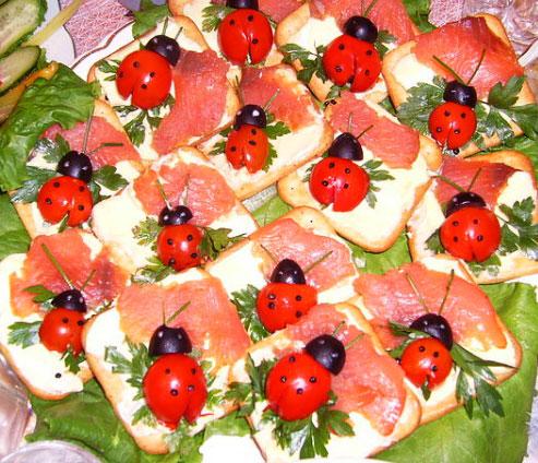 Новогодние бутерброды и рецепты