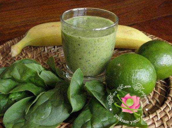 зеленый банан коктейль