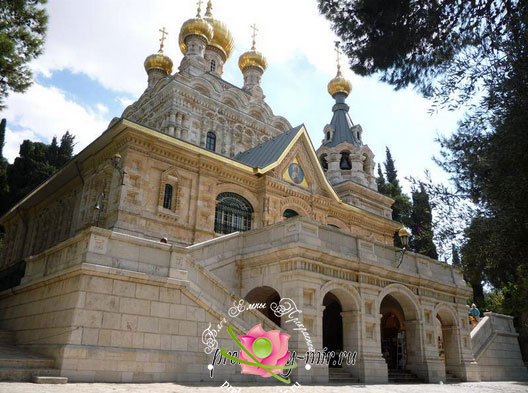 Русская церковь Марии Магдалены в Гефсиманском саду. Иерусалим