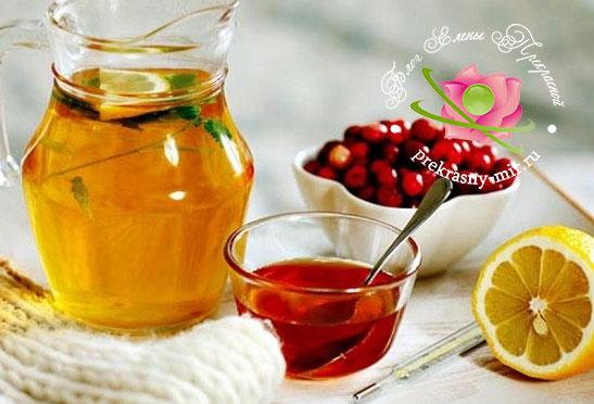 чай с шиповником от простуды и ангины