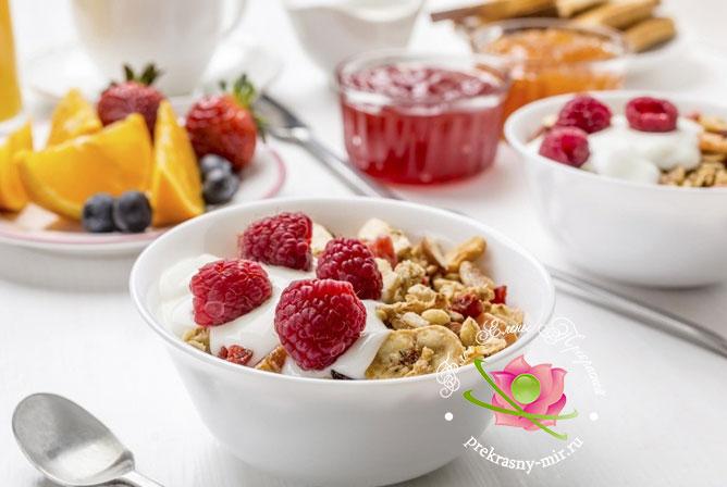 завтрак при правильном питании для похудения