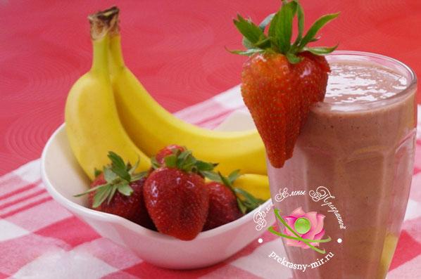 бананово-ягодный смузи