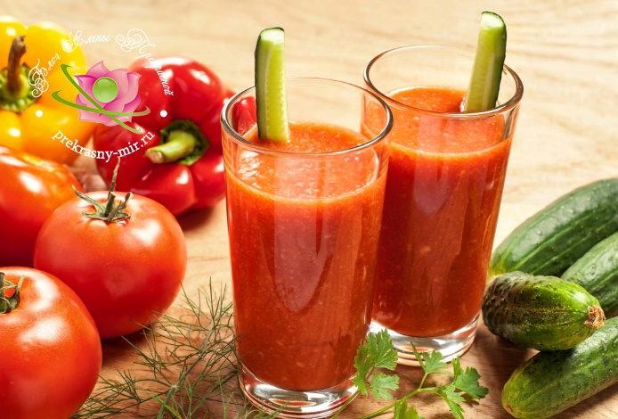смузи из огурца и томатов