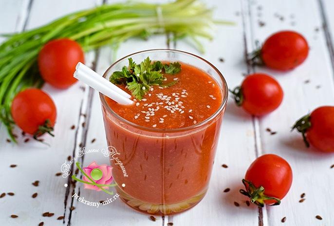 смузи из томатов с семенами льна рецепт