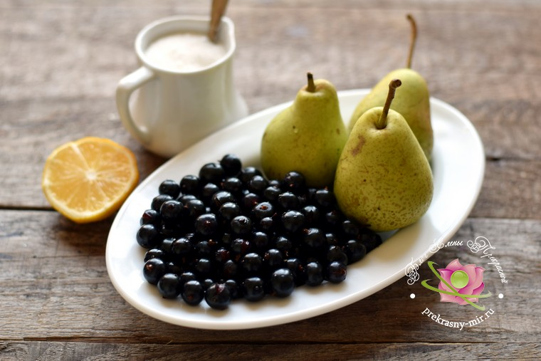 Варенье из черной смородины и груш на зиму: продукты