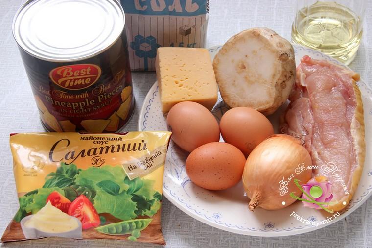 салат с курицей и сельдереем: продукты