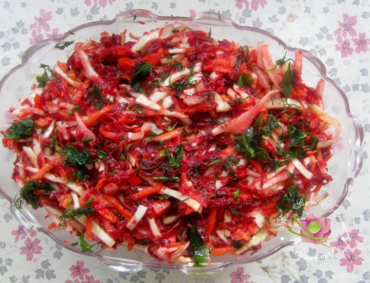 витаминный салат Зимний рецепт
