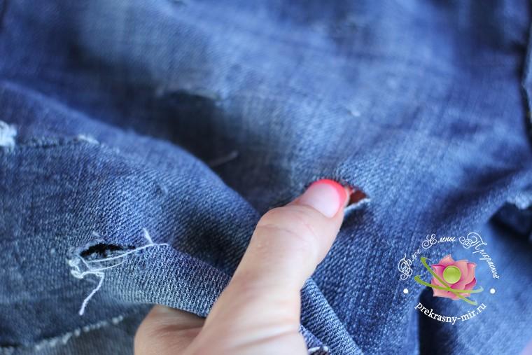 как сделать джинсовые шорты из старых джинс