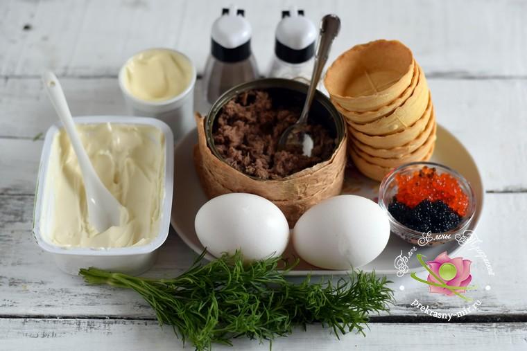 тарталетки с тунцом рецепт продукты