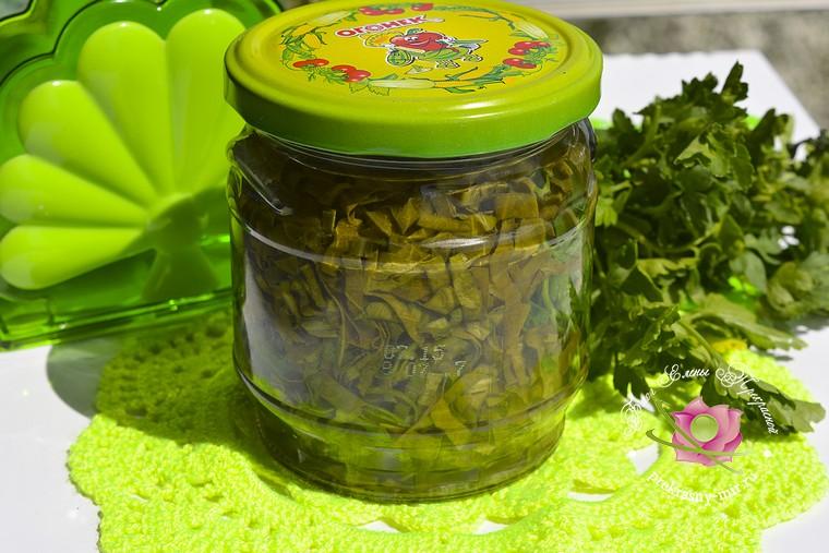 консервированный щавель с петрушкой на зиму рецепт в домашних условиях