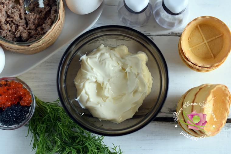 тарталетки с тунцом рецепт