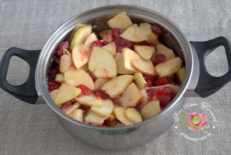 варенье из кизила на зиму с яблоками рецепт