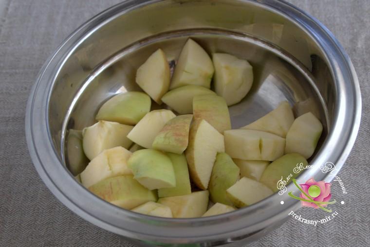 джем из яблок с черноплодной рябиной