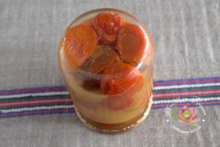 домашний рецепт жареных помидор на зиму