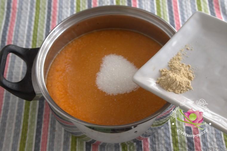 как приготовить грушевый джем с тыквой и имбирем