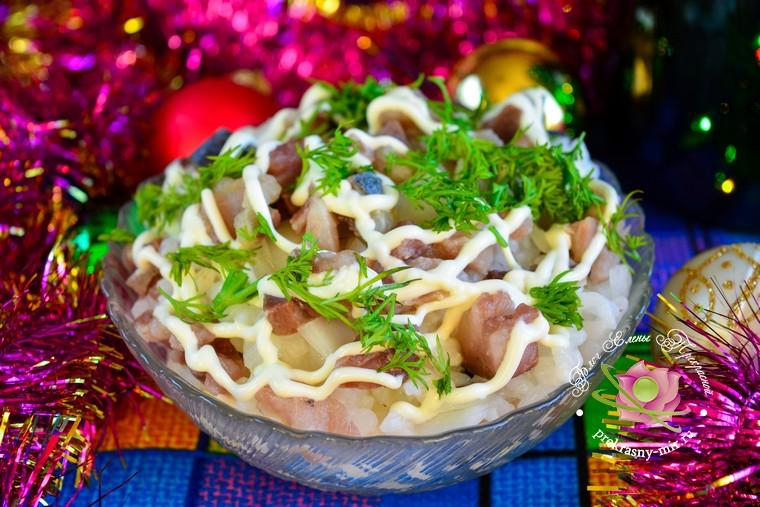 Красивый салат Новогодний