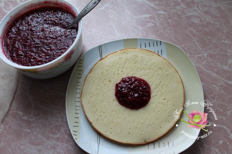 торт с клюквой рецепт в домашних условиях с фото