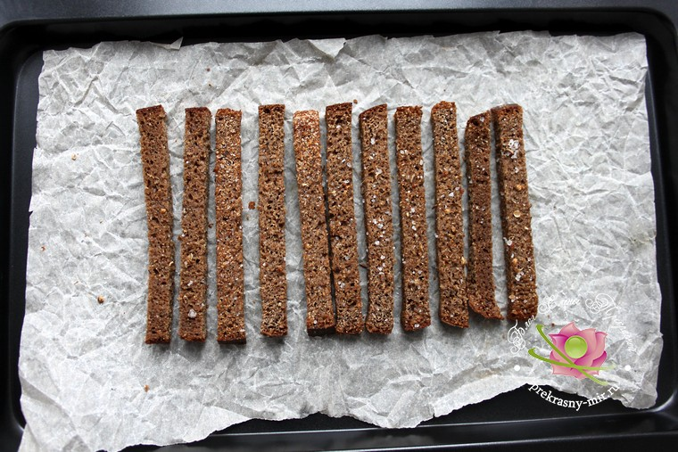 ржаные сухарики рецепт в домашних условиях