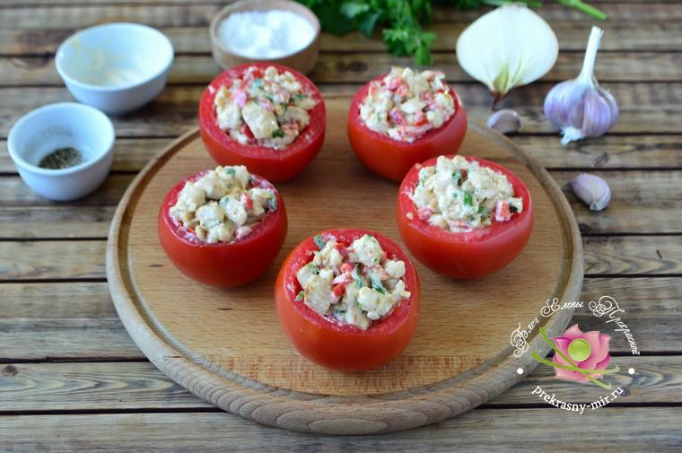 помидоры фаршированные курицей в домашних условиях