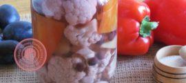 маринованная цветная капуста с перцем