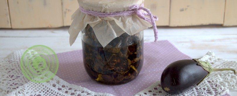вяленые баклажаны с базиликом