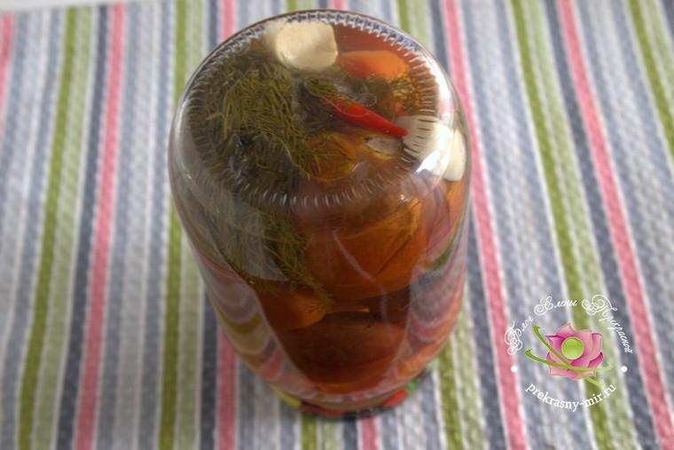 как приготовить острые консервированные помидоры на зиму