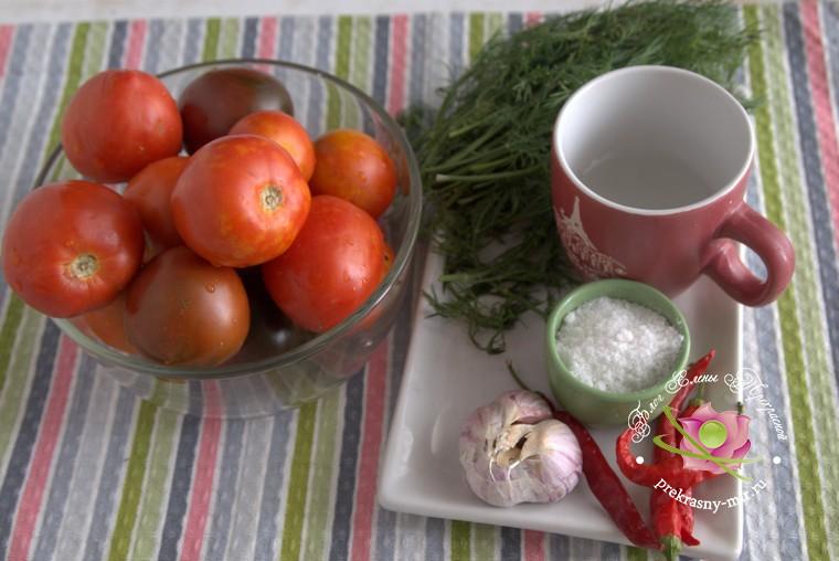 острые консервированные помидоры: продукты для приготовления