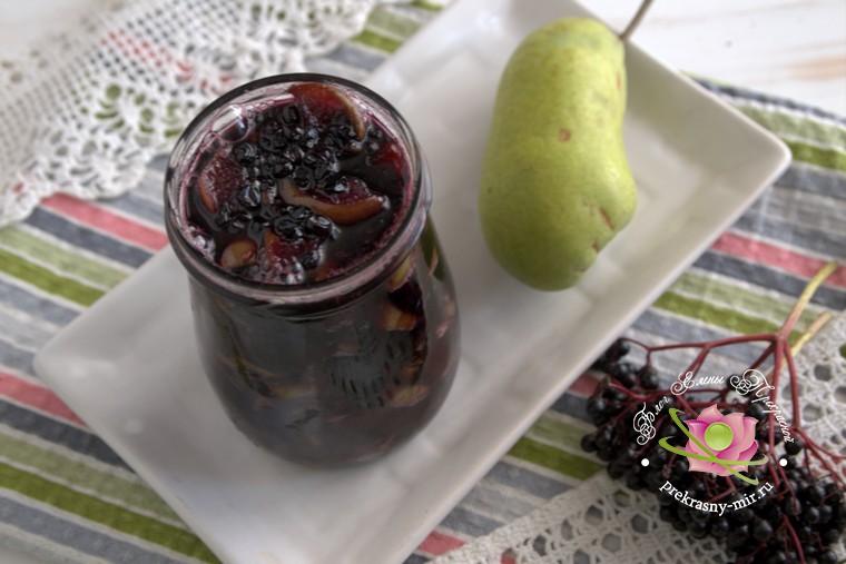 варенье из груш и бузины домашний рецепт