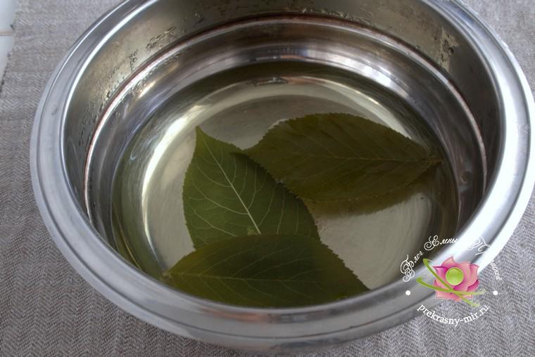 персиковое варенье с листьями вишни рецепт