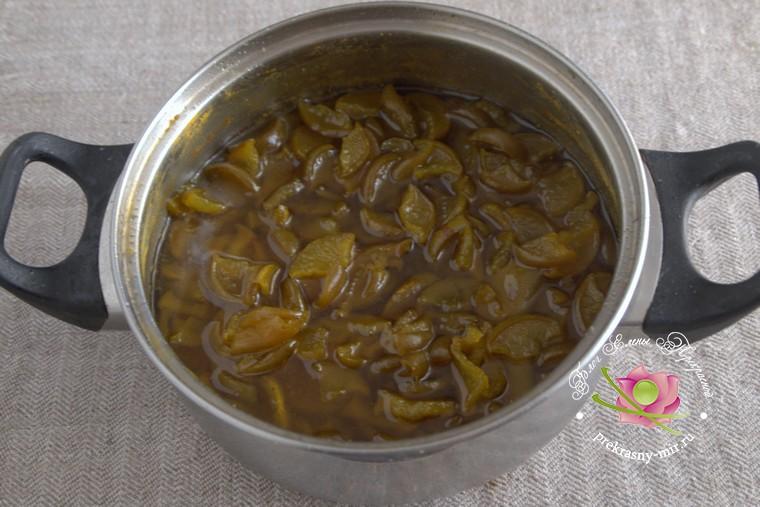 домашний рецепт грушевое варенье с куркумой