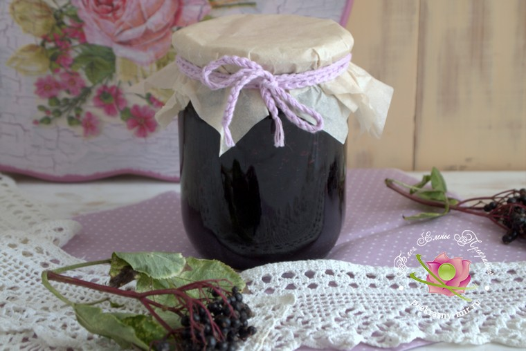 домашний рецепт варенье из бузины с коньяком
