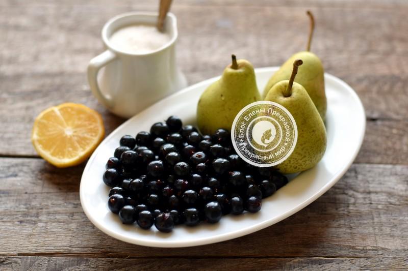 Варенье из черной смородины и груш