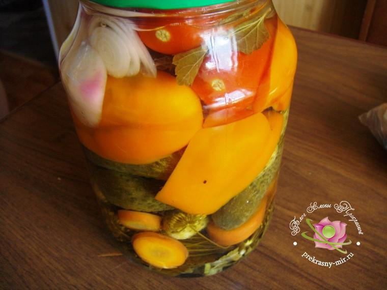 консервированное ассорти из овощей рецепт