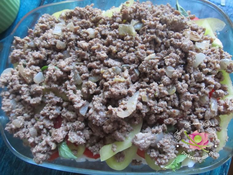 гратен с баклажанами и фаршем рецепт приготовления
