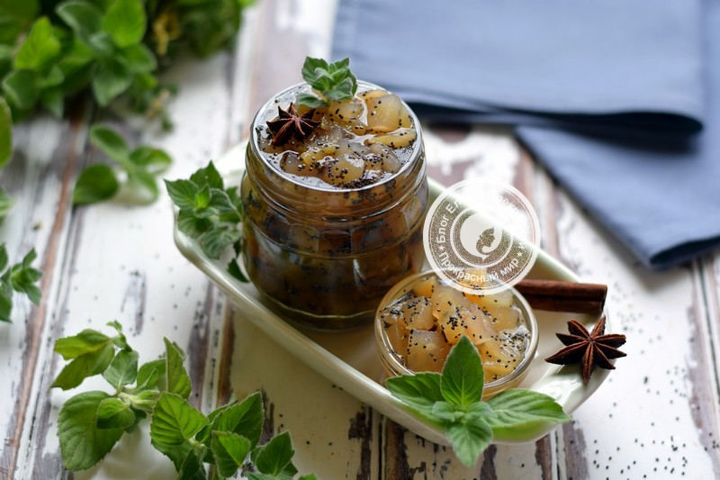 грушевое варенье с маком и пряностями на зиму рецепт в домашних условиях