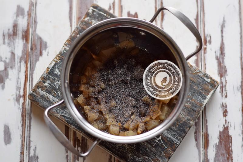 грушевое варенье с маком и пряностями на зиму рецепт с фото