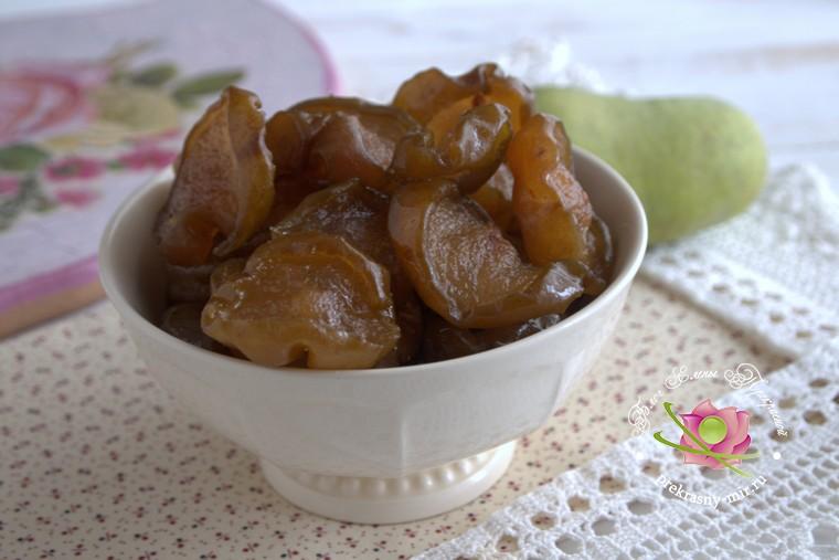рецепт сухого грушевого варенья рецепт