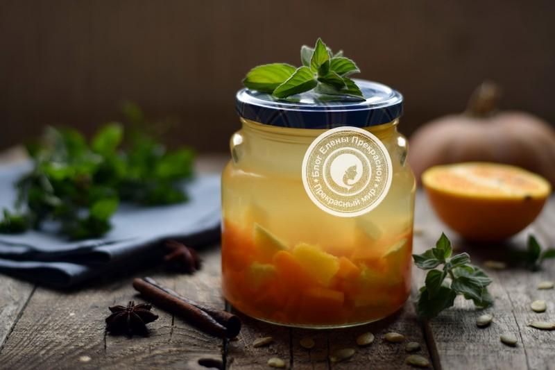 компот из тыквы с апельсином на зиму рецепт