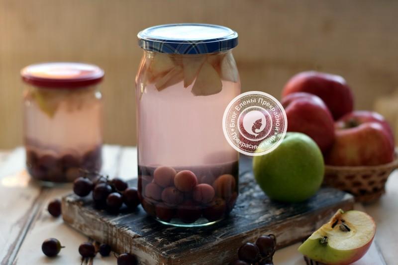 виноградно-яблочный компот на зиму рецепт в домашних условиях
