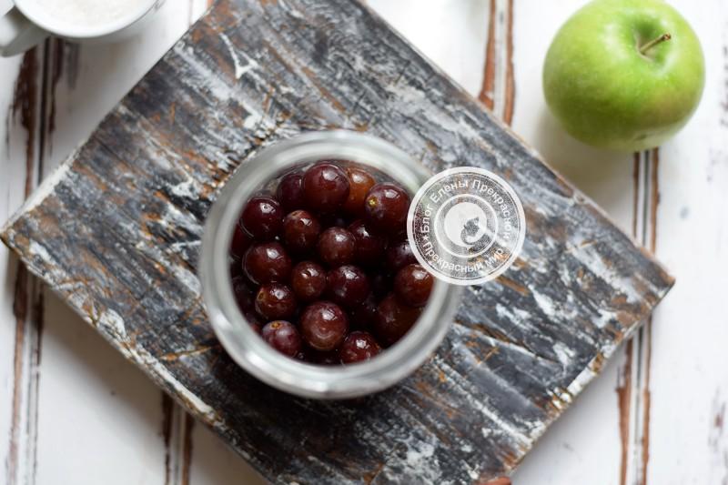виноградно-яблочный компот на зиму рецепт