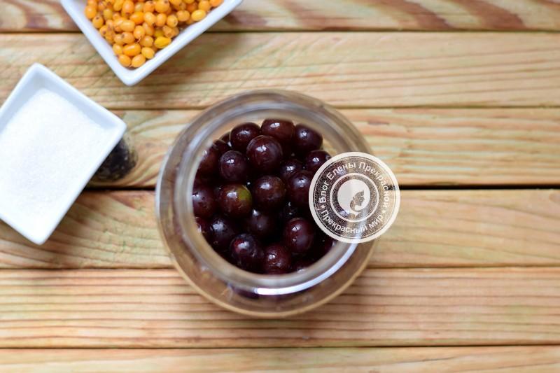 Компот из винограда и облепихи без стерилизации на зиму рецепт