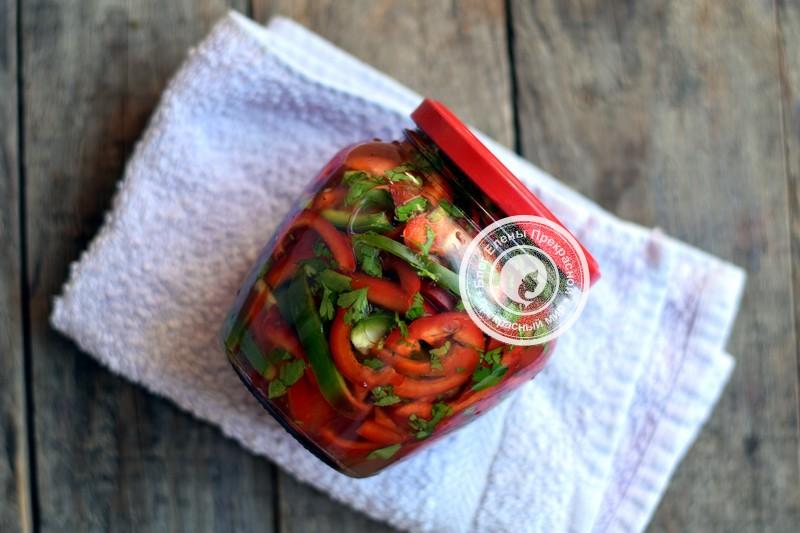 маринованный болгарский перец соломкой на зиму рецепт в домашних условиях