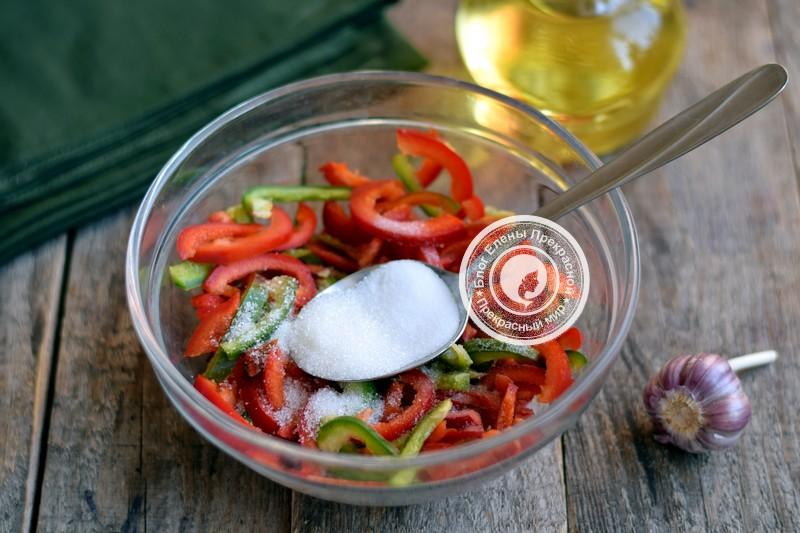 маринованный болгарский перец соломкой на зиму рецепт