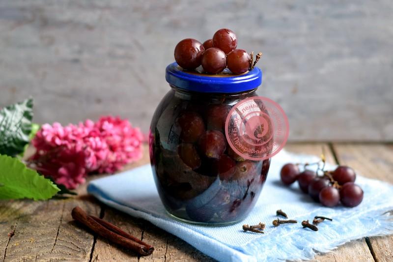 маринованный виноград на зиму рецепт в домашних условиях