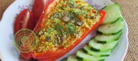 перец фаршированный кускусом с овощами