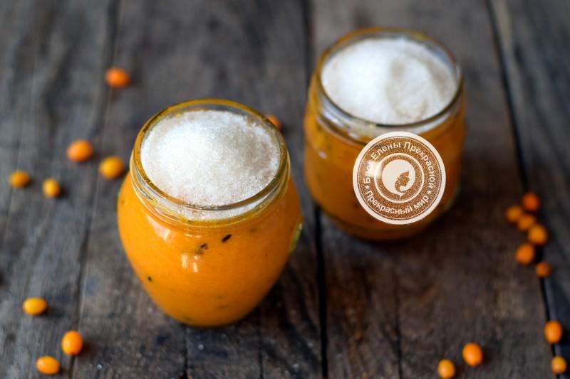 Облепиха протертая с сахаром рецепт в домашних условиях